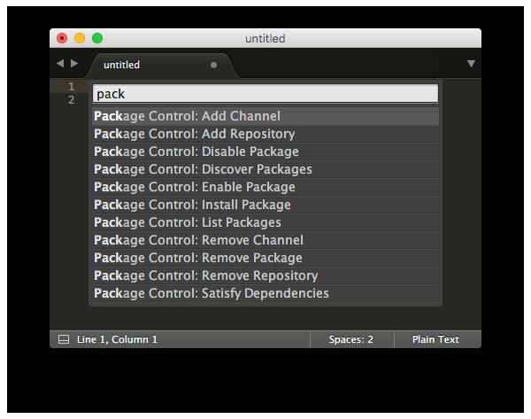 Command palette